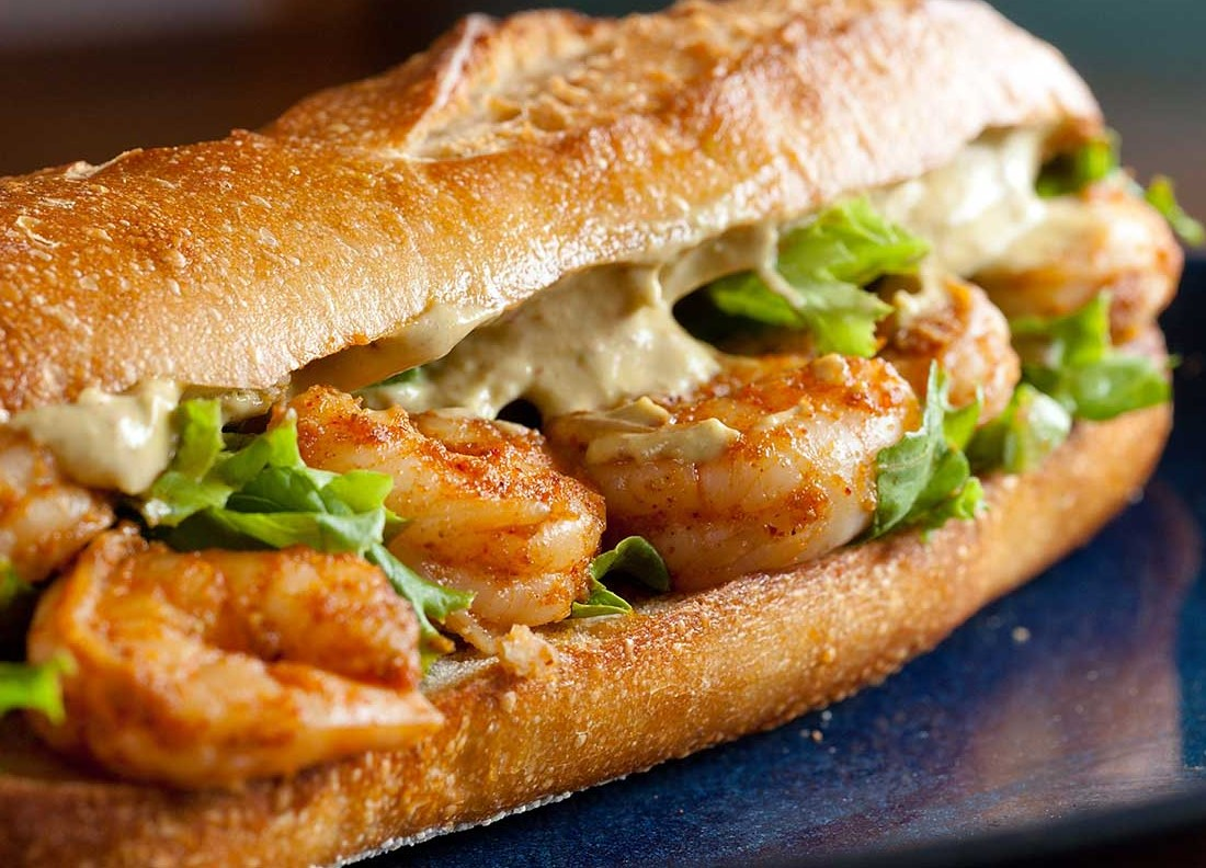 Spicy Shrimp Sandwich with Chipotle Avocado Mayonnaise | 12 Easy But Delicious Shrimp Recipes | Her Beauty
