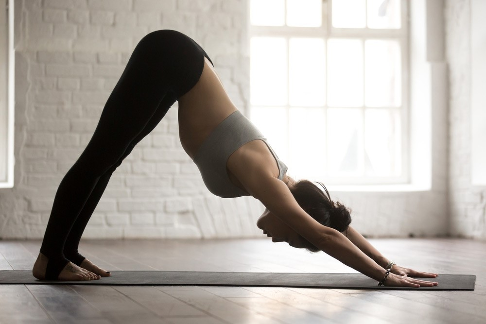 Downward dog | 15 Morning Yoga Poses For Beginners | Her Beauty