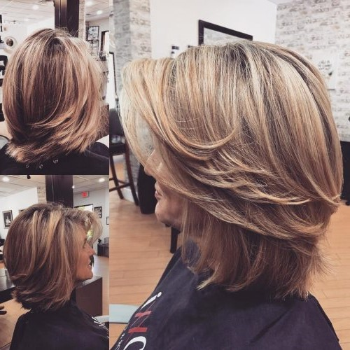 Super modern layered bob | Short Hairstyles For Women Over 50 | Her Beauty