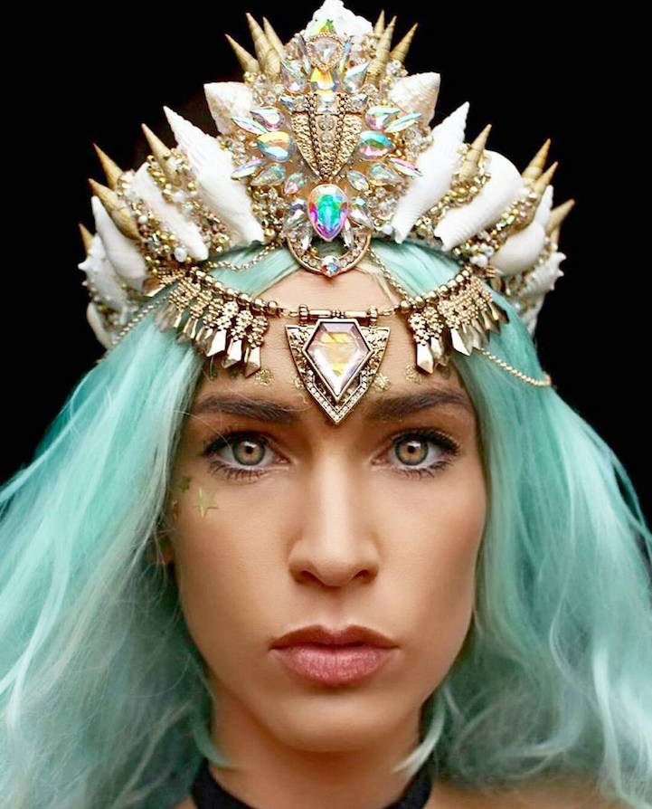 Mermaid  |  11 Creepy and Cool Halloween Makeup Ideas to Try This Year |  HerBeauty