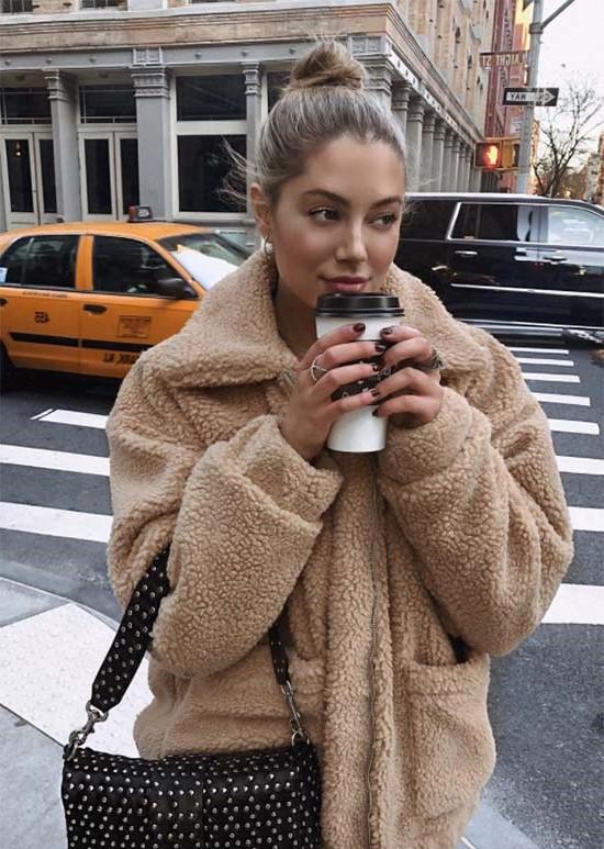 The teddy coat | 10 Coolest Winter Coat Trends | Her Beauty