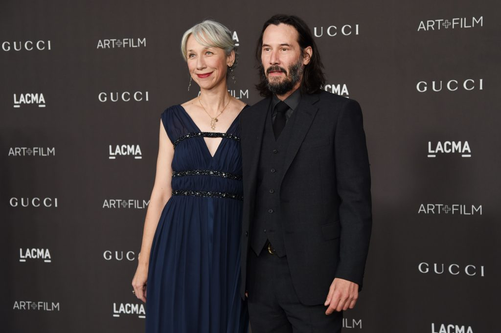 Reeves and Grant at  Los Angeles County Museum of Art + Film Gala | Keanu Reeves Reveals His Secret Girlfriend And We're Totally In Love | Her Beauty