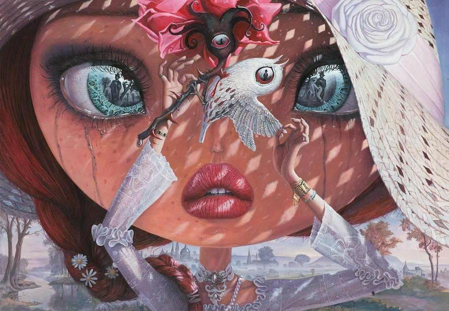 Nightingale And The Rose | Surreal Paintings Of Romanian Artist You'll Never Forget | Her Beauty