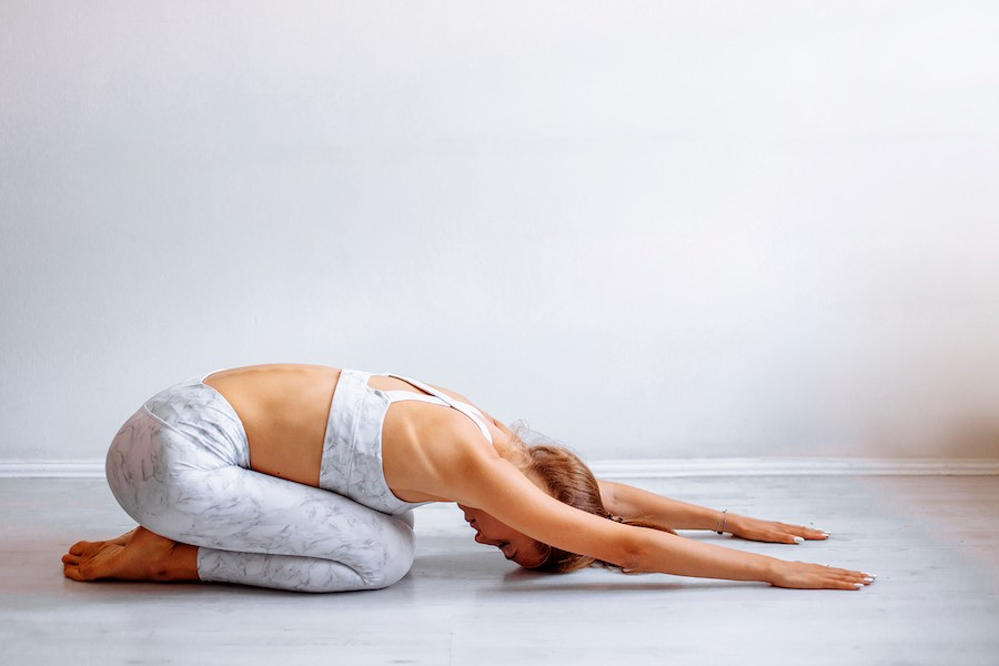 Child's Pose  | 9 Stretches To Ease Lower Back Pain | Her Beauty