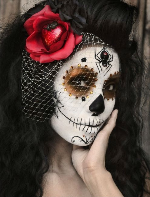 Forehead tarantula | 10 Day of the Dead Makeup Ideas | Her Beauty