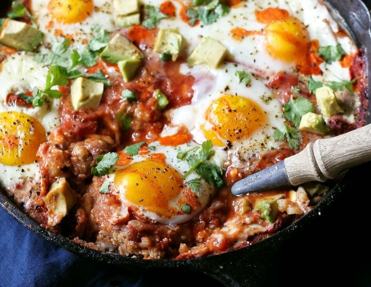 Polenta, Beans and Egg Skillet Bake | 8 Warm Breakfast Ideas for Winter | Her Beauty