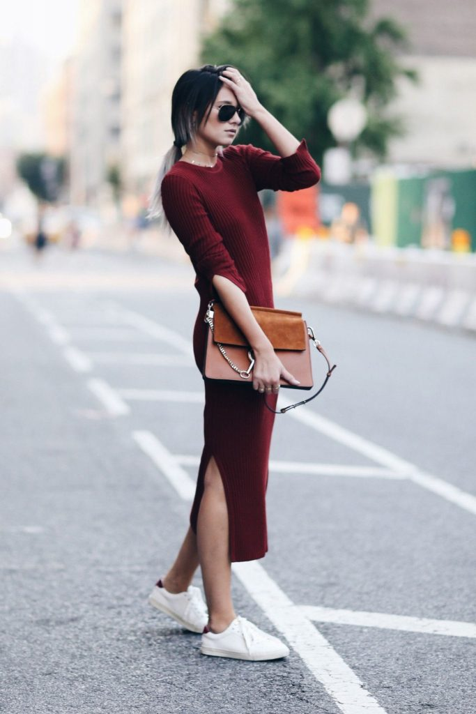Long knit maxi | 9 Chic and Simple Thanksgiving Outfits Ideas | Her Beauty