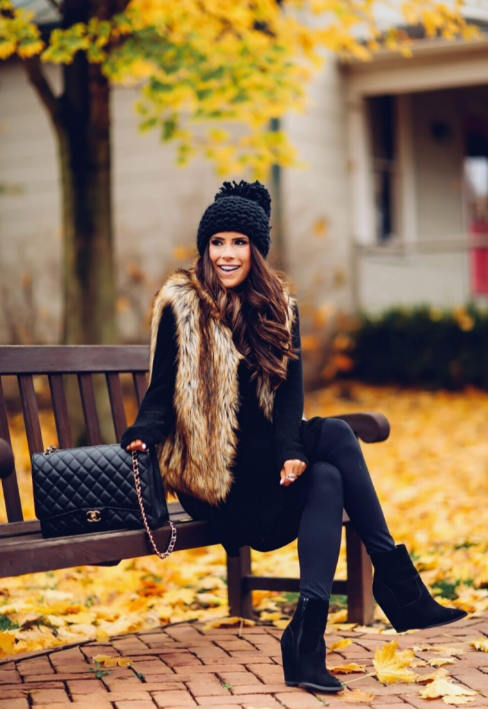 Playful but gorgeous | 9 Chic and Simple Thanksgiving Outfits Ideas | Her Beauty