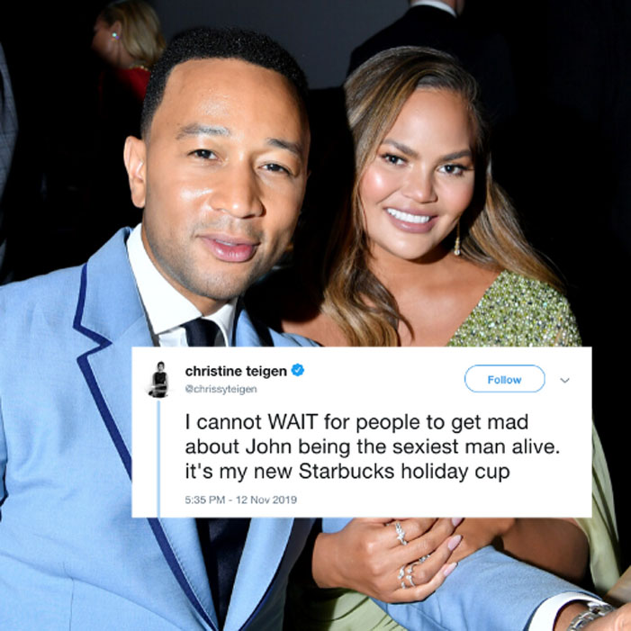 Chrissy Tiegen is having fun | John Legend Is Named 2019's Sexiest Man Alive And His Wife Chrissy Teigen Becomes His Biggest Troll | Her Beauty