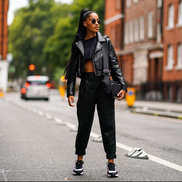 All black  | 9 Best Leather Jacket Outfit Ideas | Her Beauty
