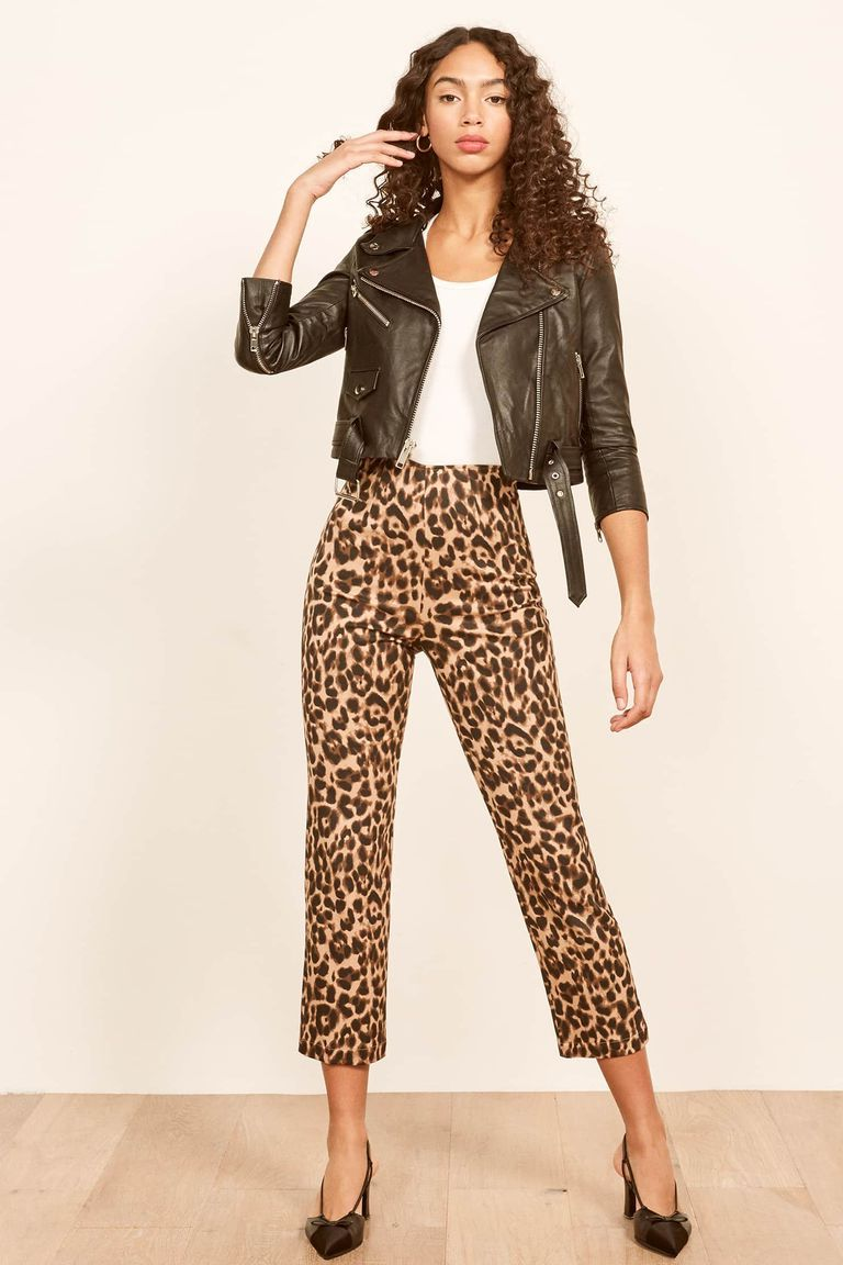 Animal print  | 9 Best Leather Jacket Outfit Ideas | Her Beauty