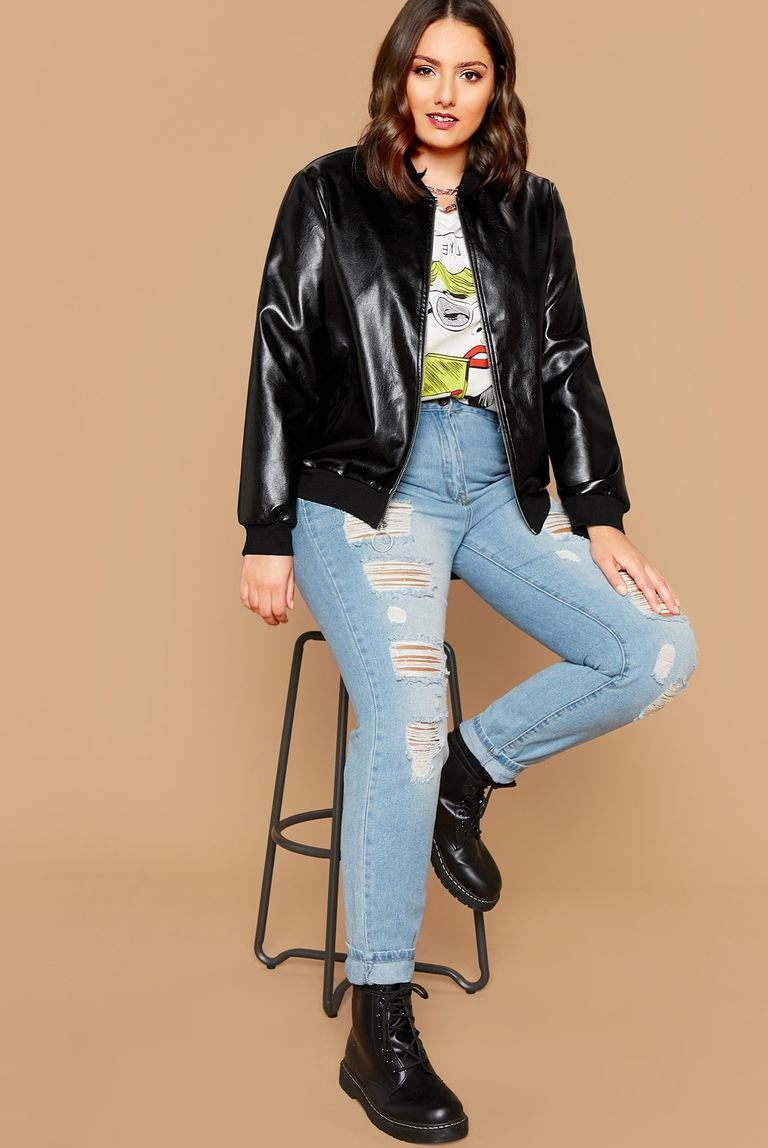 Classic casual look | 9 Best Leather Jacket Outfit Ideas | Her Beauty