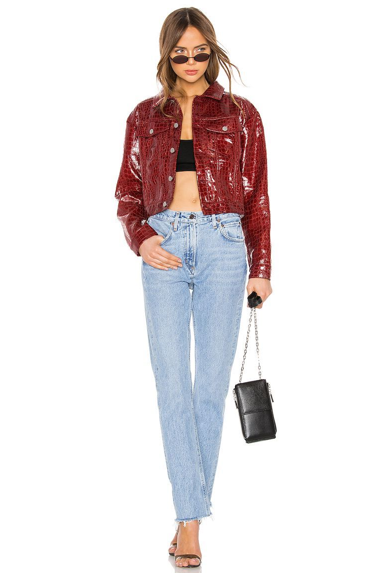 Colored leather | 9 Best Leather Jacket Outfit Ideas | Her Beauty