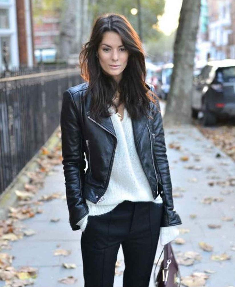 Effortless European| 9 Best Leather Jacket Outfit Ideas | Her Beauty