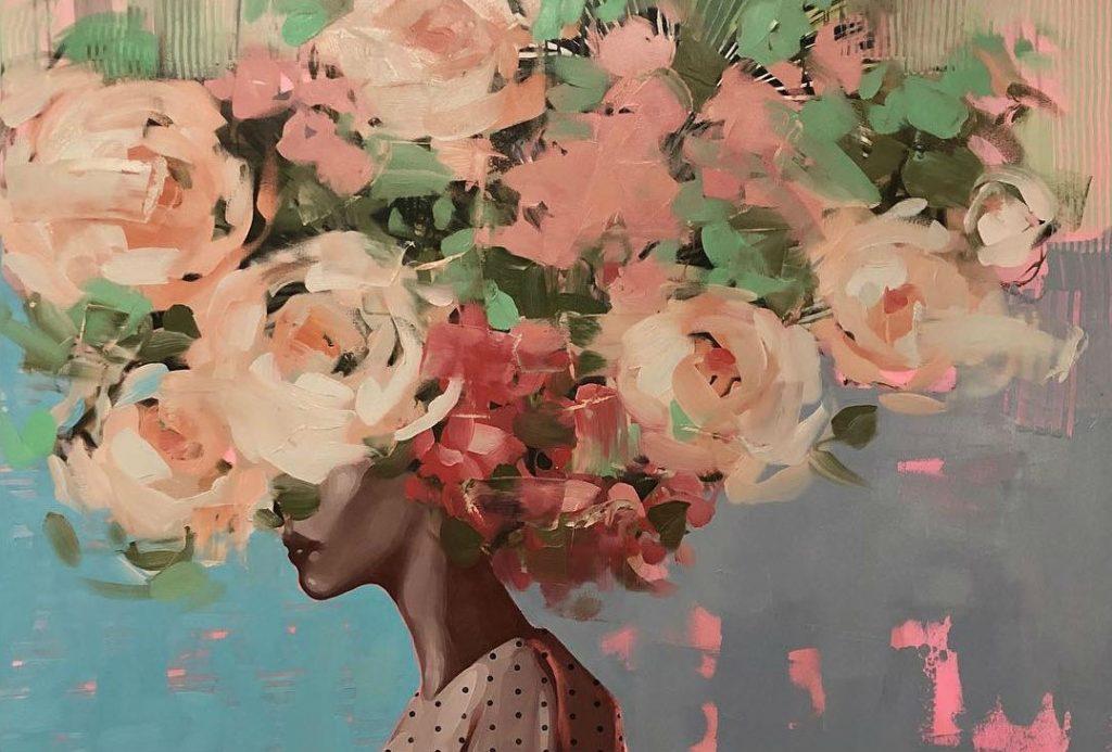 Призрачные девушки-цветы художницы из Нью-Йорка Анны Кинкейд | Her Beauty