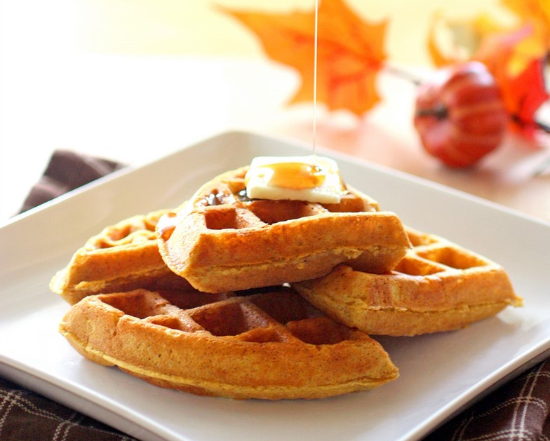 Pumpkin Waffles | 8 Warm Breakfast Ideas for Winter | Her Beauty