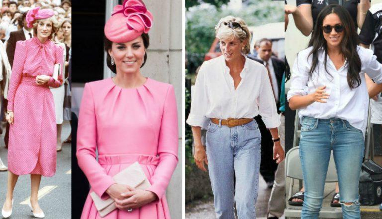 В стиле принцессы Дианы: лучшие выходы Кейт Миддлтон и Меган Маркл | Her Beauty