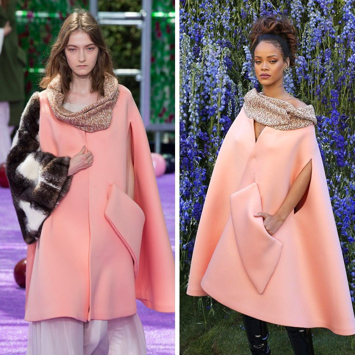 Rihanna – Christian Dior | Who Wore It Best: 12 Dresses Celebs Took Right Off The Catwalk | Her Beauty