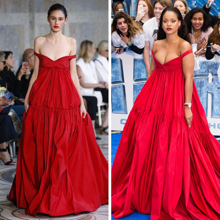 Rihanna – Giambattista Valli | Who Wore It Best: 12 Dresses Celebs Took Right Off The Catwalk | Her Beauty