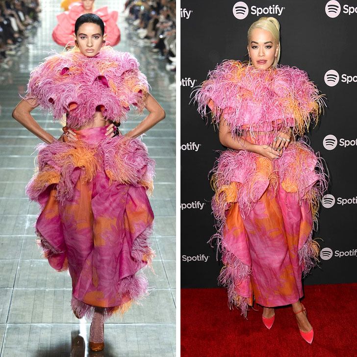 Rita Ora – Marc Jacobs | Who Wore It Best: 12 Dresses Celebs Took Right Off The Catwalk | Her Beauty