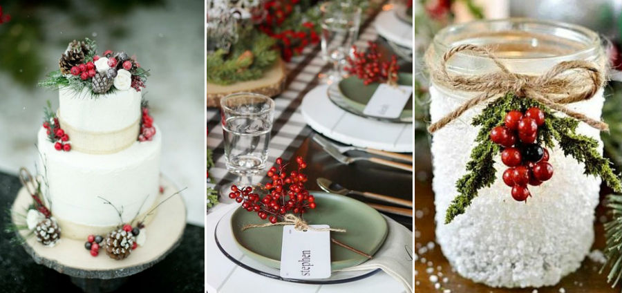 Калина, брусника и другие зимние ягоды | 8 крутых идей для зимней свадьбы | Her Beauty