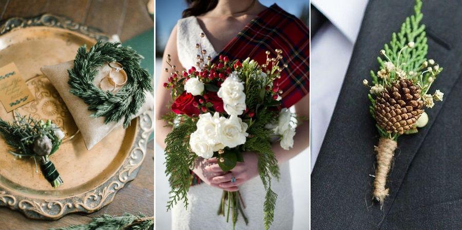 Еловые, сосновые и туевые ветки | 8 крутых идей для зимней свадьбы | Her Beauty