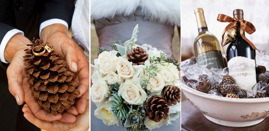Еловые шишки | 8 крутых идей для зимней свадьбы | Her Beauty