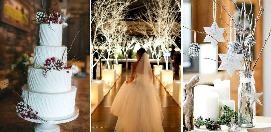 Сухие ветки и саженцы деревьев | 8 крутых идей для зимней свадьбы | Her Beauty