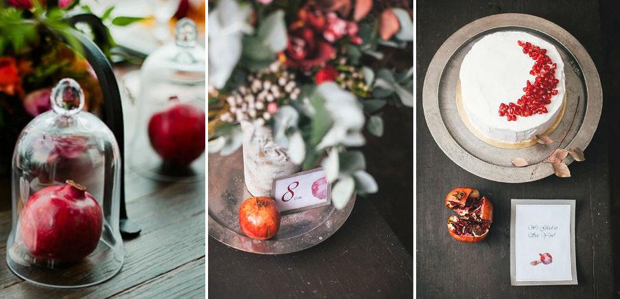Гранаты | 8 крутых идей для зимней свадьбы | Her Beauty