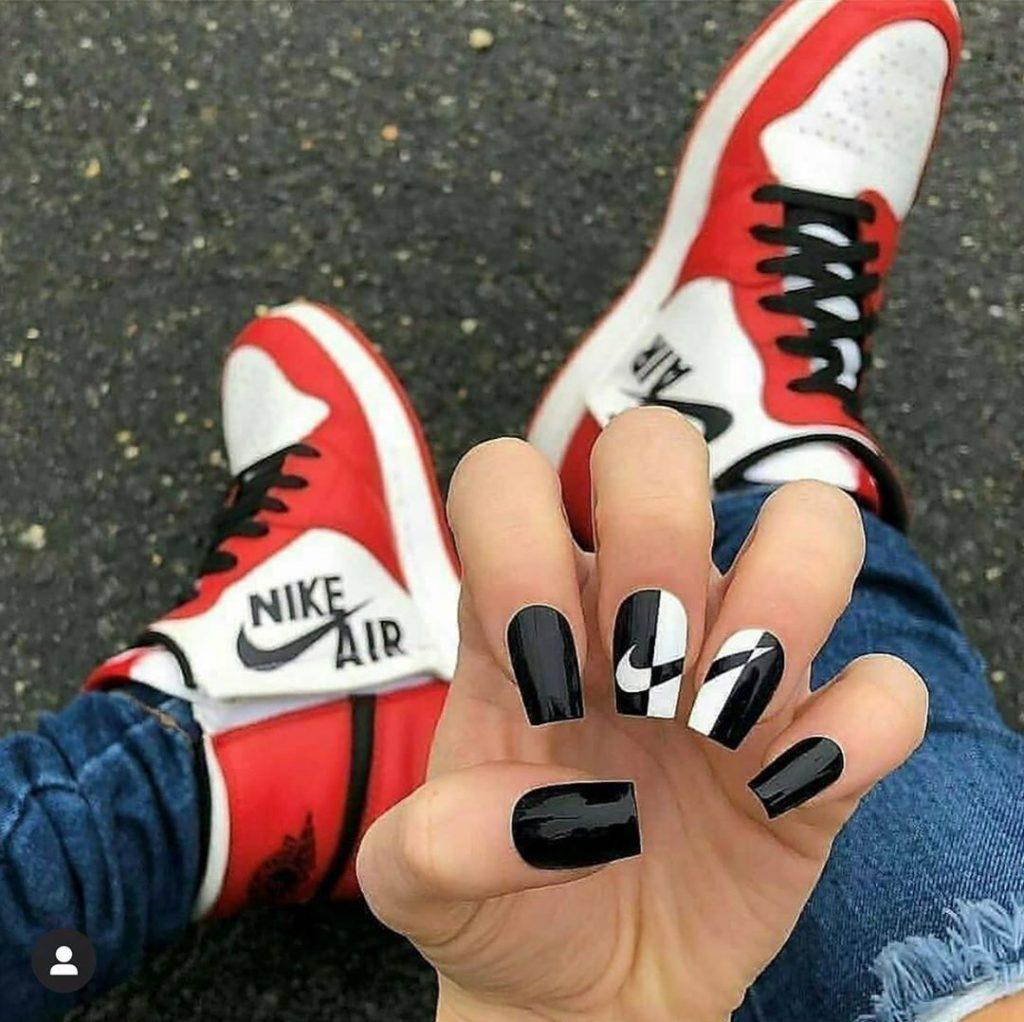 #2  | Luxury Sneakers Nail Art – Now That's A Novel Idea | HerBeauty