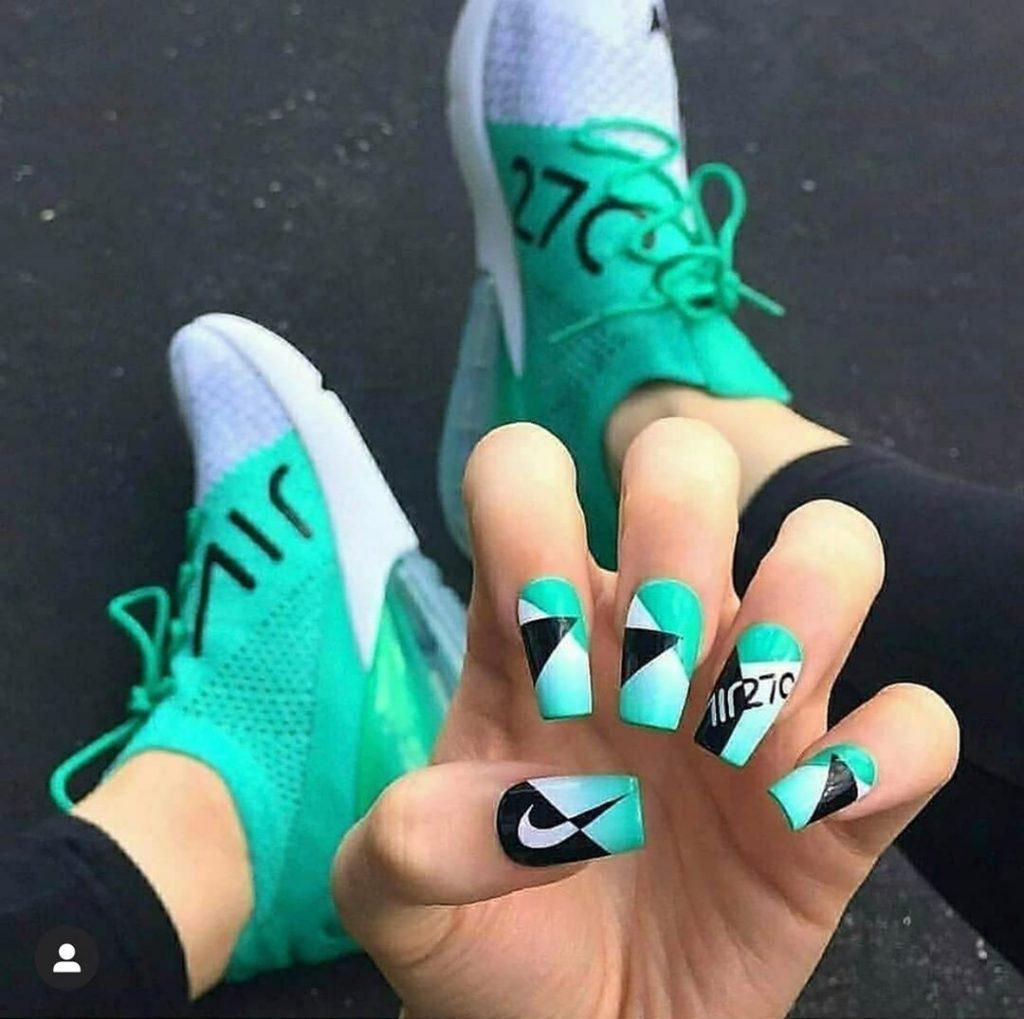 #5  | Luxury Sneakers Nail Art – Now That's A Novel Idea | HerBeauty