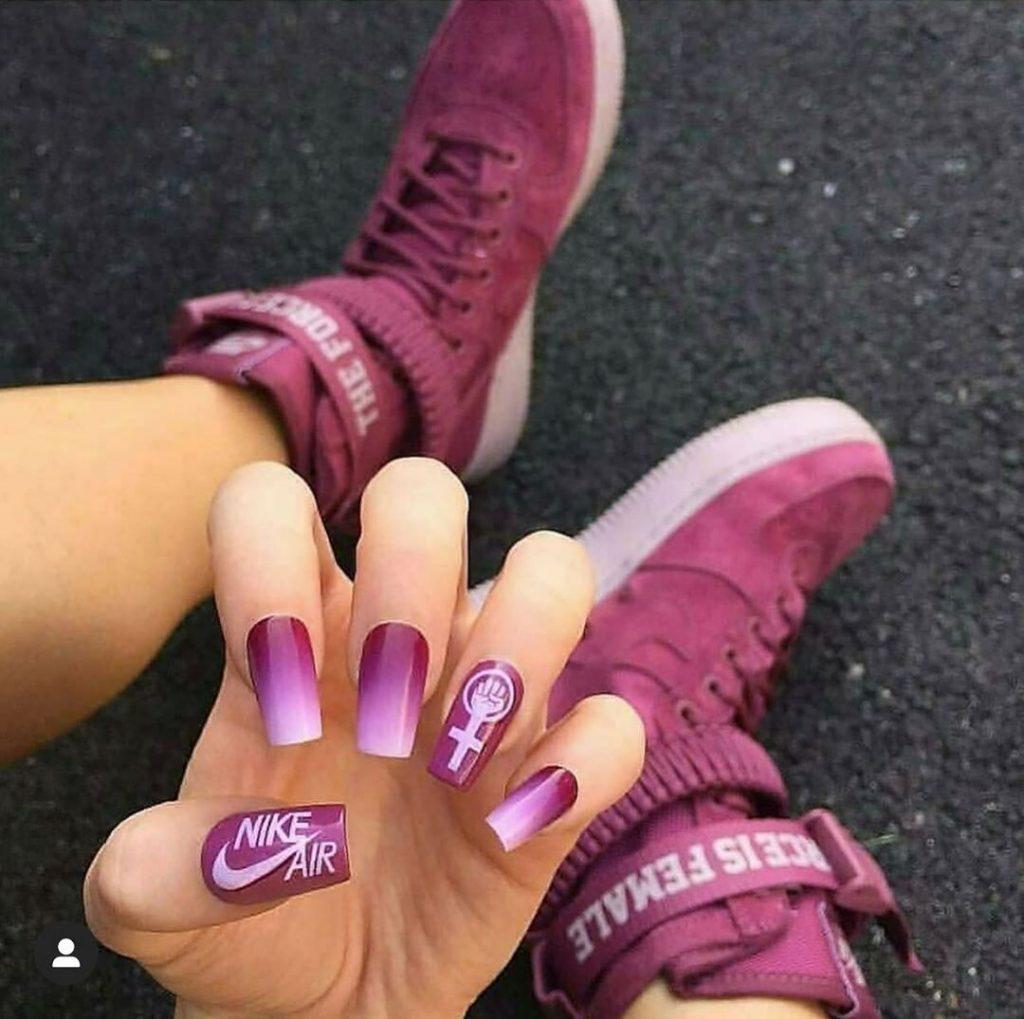 #6  | Luxury Sneakers Nail Art – Now That's A Novel Idea | HerBeauty