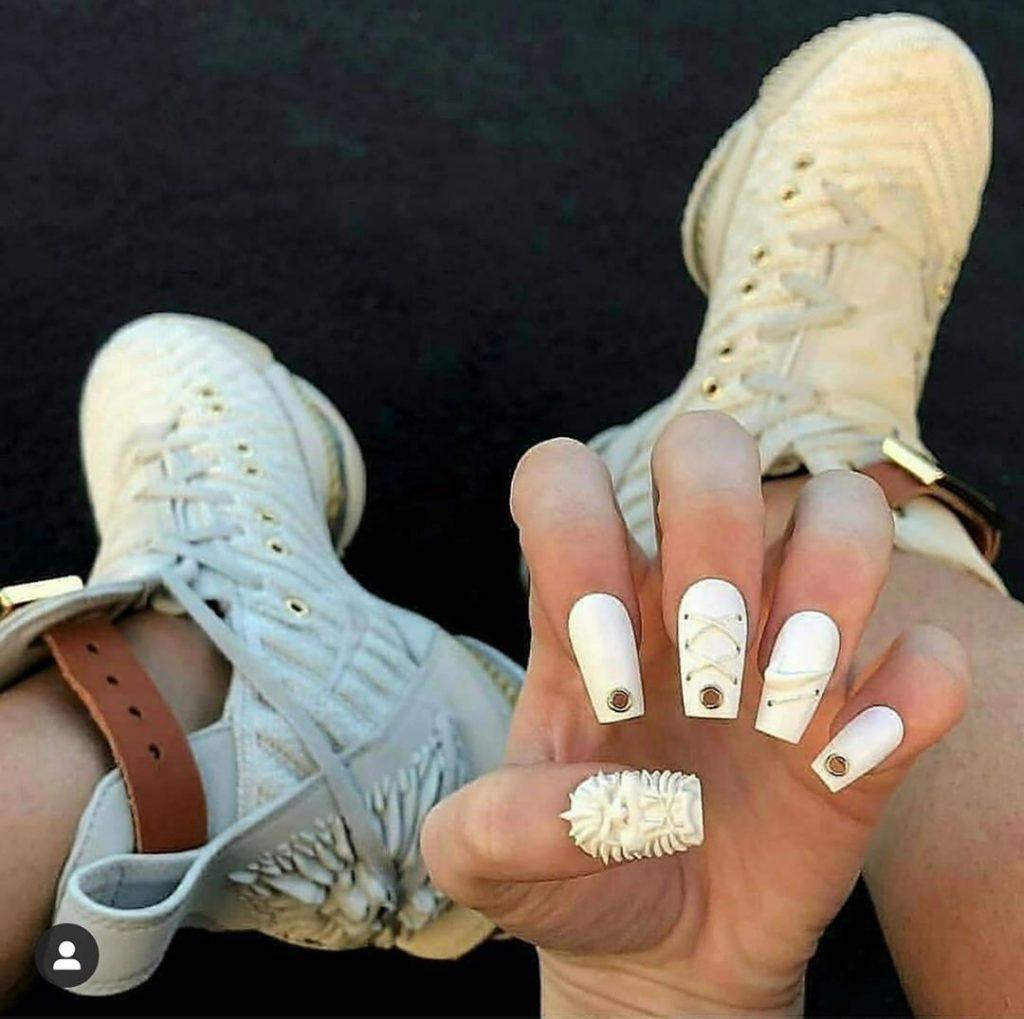 #7  | Luxury Sneakers Nail Art – Now That's A Novel Idea | HerBeauty