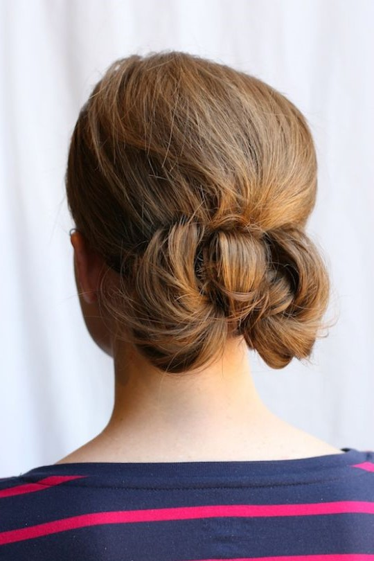 8. Bow bun chignon | 10 Chignon Hairstyles You'll Freak Over | Her Beauty
