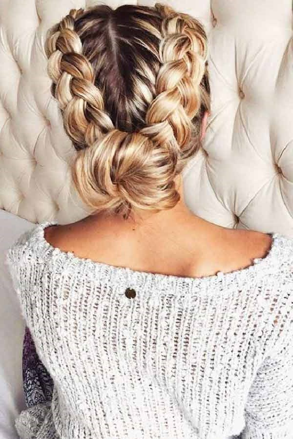 7. Dutch braid chignon | 10 Chignon Hairstyles You'll Freak Over | Her Beauty