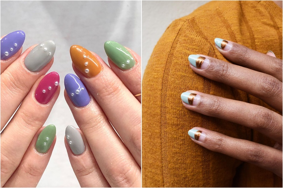 Bright Nail Designs # 2 | 34 Best Winter Nail Design Ideas | Her Beauty