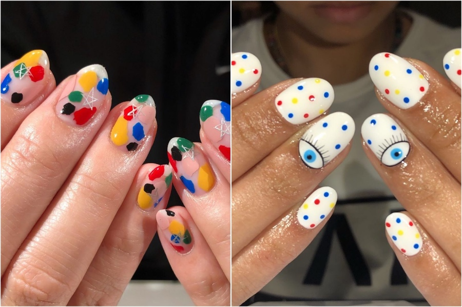 Bright Nail Designs #3 | 34 Best Winter Nail Design Ideas | Her Beauty