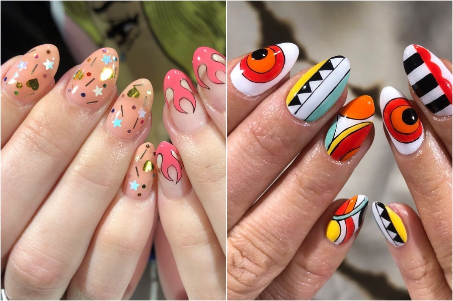 Bright Nail Designs #4 | 34 Best Winter Nail Design Ideas | Her Beauty