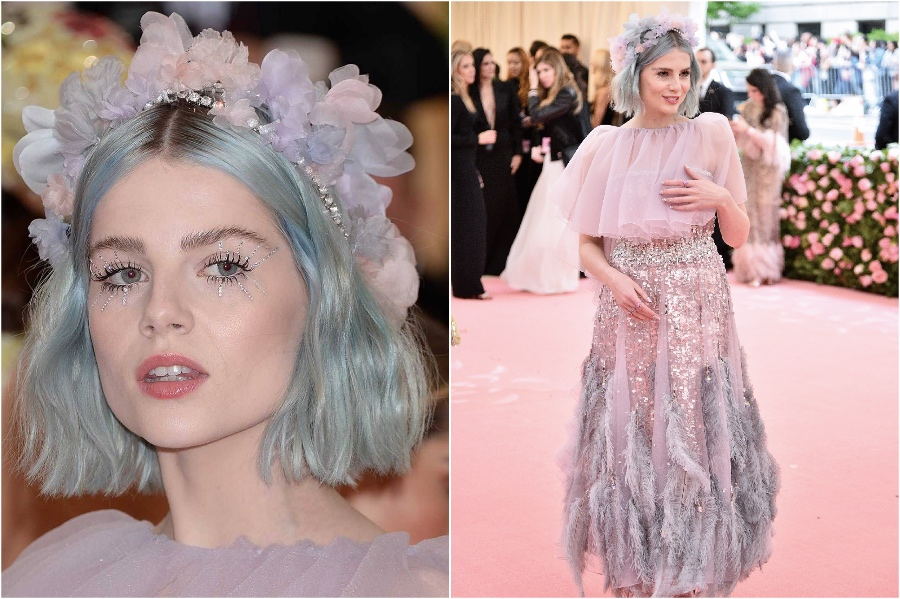 1. Lucy Boynton At Met Gala 2019 | 8 Stunning Celebrity Flower Hairstyles | Her Beauty