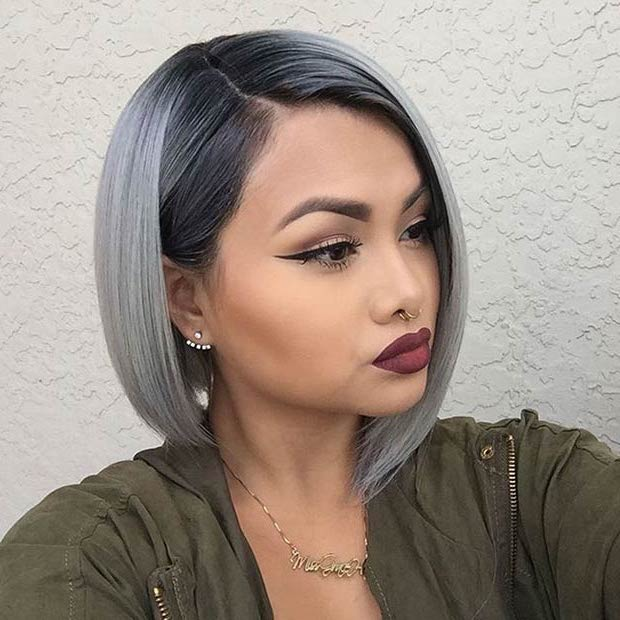 10 Best Gray Hair Color Ideas #4 | Her Beauty