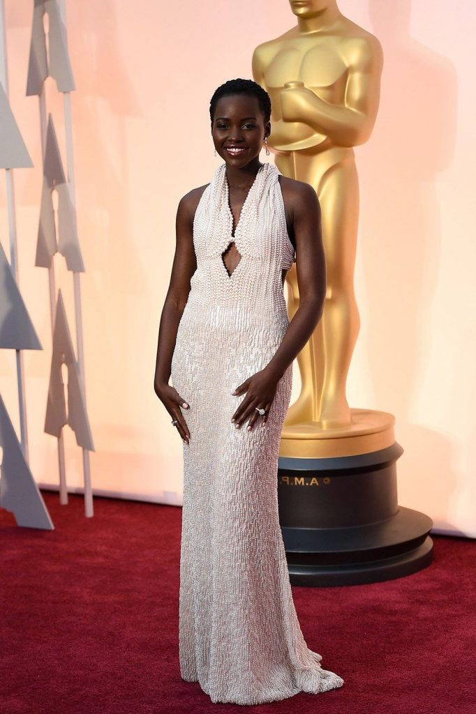 2. Lupita N'yongo |  The 10 Most Expensive Oscar Dresses Of All Time |  Her beauty