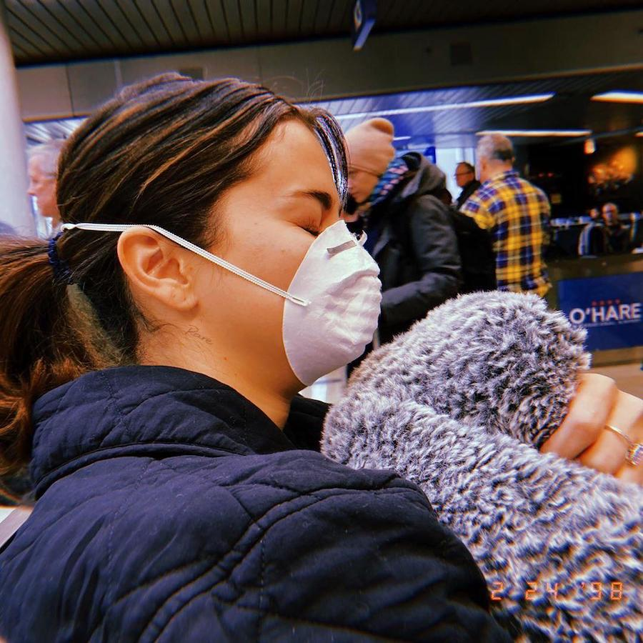 12. Selena Gomez | 19 Photos of Celebs and Fashion Influencers Wearing Face Masks | Her Beauty
