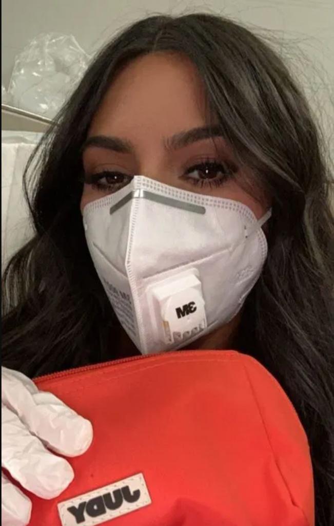 15. Kim Kardashian | 19 Photos of Celebs and Fashion Influencers Wearing Face Masks | Her Beauty