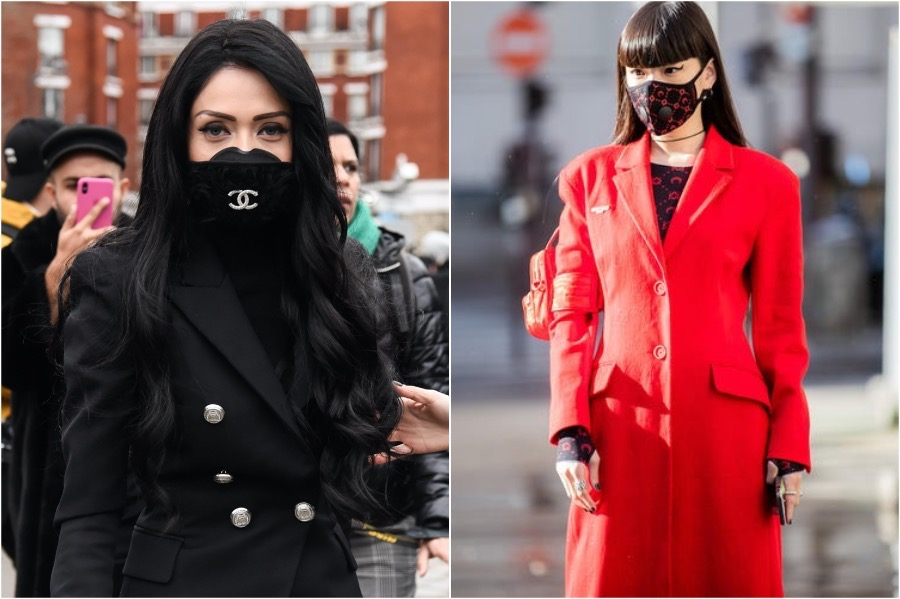 17. Fashionistas | 19 Photos of Celebs and Fashion Influencers Wearing Face Masks | Her Beauty