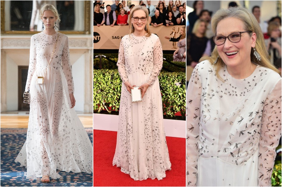 Meryl Streep In Valentino | Runway Outfits That Look Completely Different on Celebrities and Models | Her Beauty