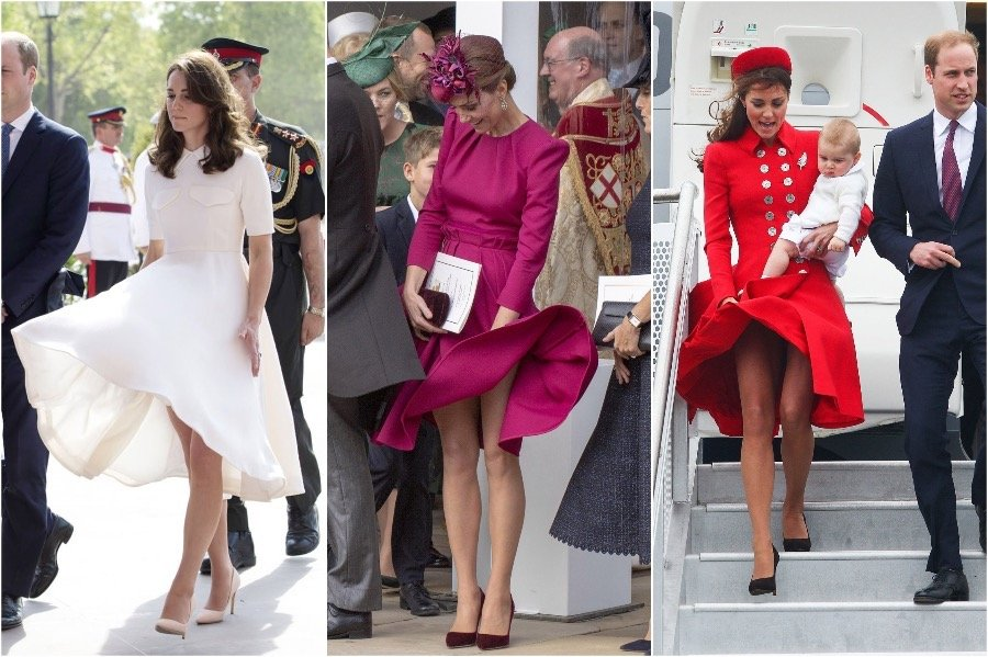 6. Don't Wear Light Fabrics In Windy Weather | 7 Wardrobe Lessons Kate Middleton Has Learned As A Royal | Her Beauty