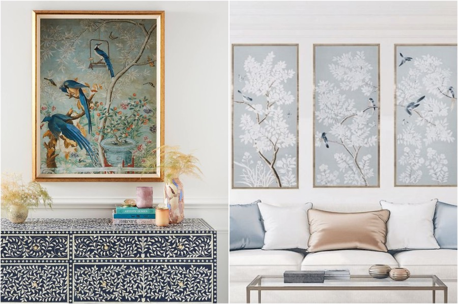 2. Prints and Paintings   How To Add A Bit of Chinoiserie Into Your Home Interior   Her Beauty