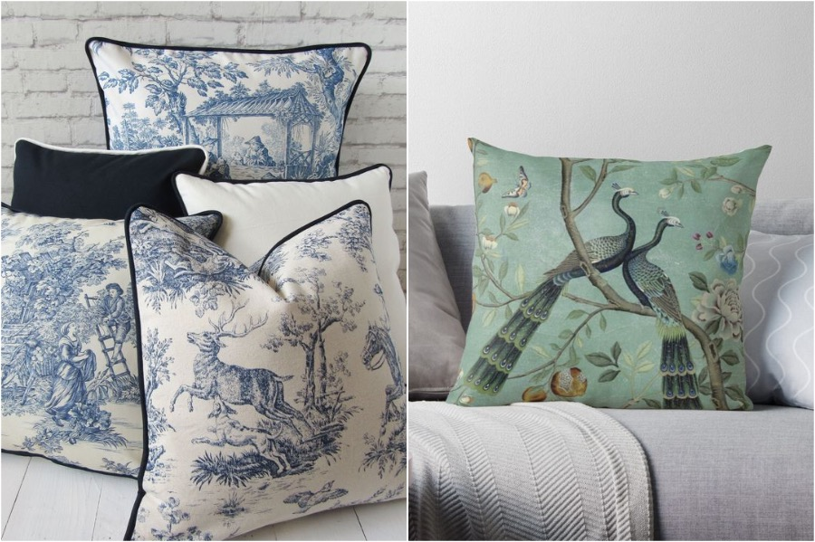 3. Cushions   How To Add A Bit of Chinoiserie Into Your Home Interior   Her Beauty
