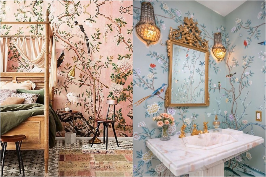 4. Wallpaper   How To Add A Bit of Chinoiserie Into Your Home Interior   Her Beauty