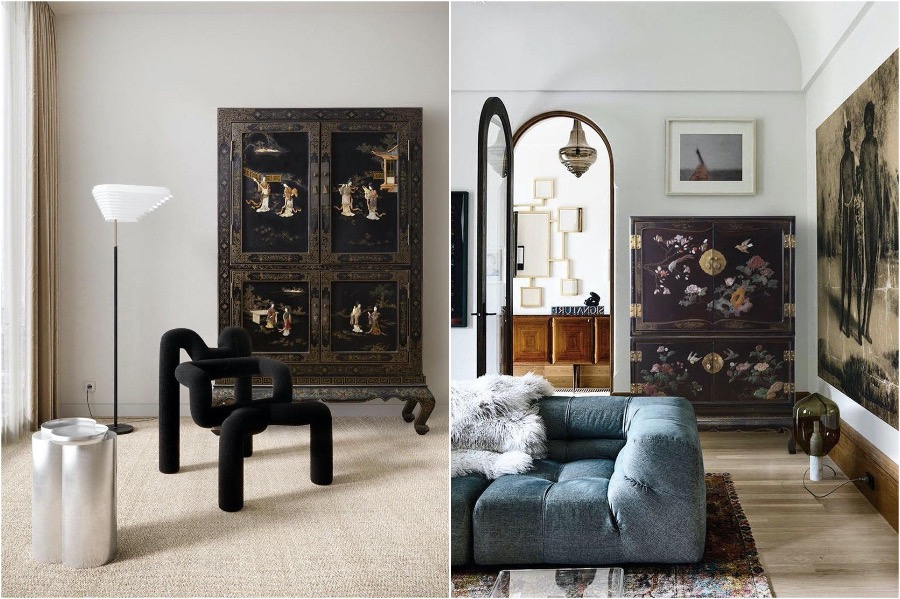 7. Lacquered Cabinets   How To Add A Bit of Chinoiserie Into Your Home Interior   Her Beauty